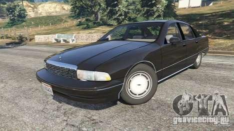 Chevrolet Caprice 1991 v1.2 для GTA 5 вид справа
