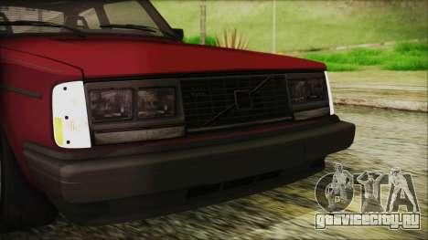Volvo Turbo 242 Evolution Turbo 1983 для GTA San Andreas вид сверху