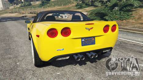 Chevrolet Corvette ZR1 для GTA 5 вид сзади слева