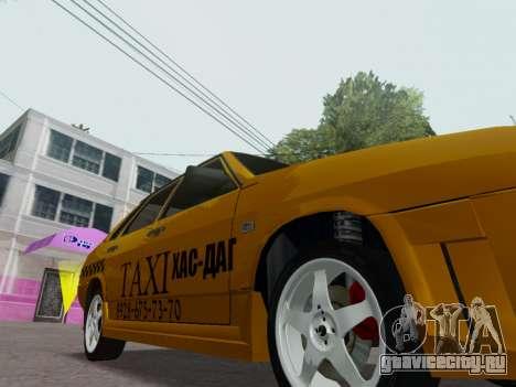 VAZ 21099 Tuning Russian Taxi для GTA San Andreas вид изнутри