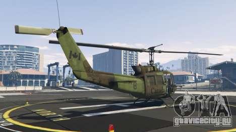 Bell UH-1D Huey Royal Canadian Air Force для GTA 5 третий скриншот