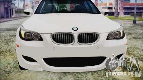BMW M5 E60 2009 для GTA San Andreas вид сбоку