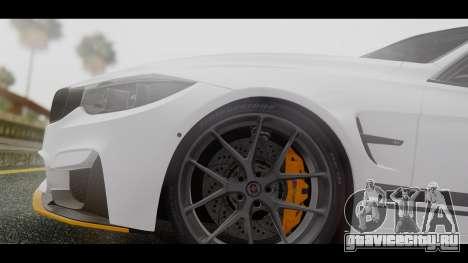 BMW M3 F30 IND EDITION для GTA San Andreas вид сзади