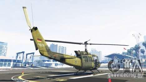 Bell UH-1D Huey Bundeswehr для GTA 5 третий скриншот