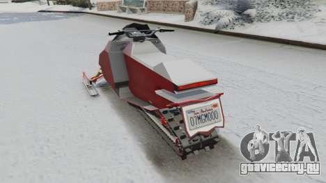 Снегоход для GTA 5 вид сзади слева