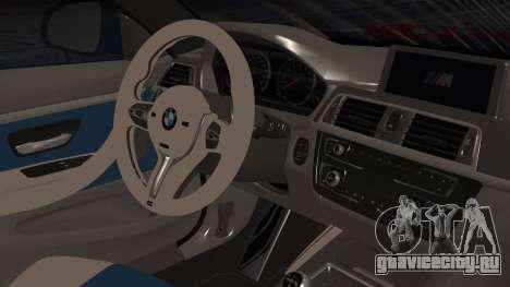 BMW M4 Stance 2014 для GTA San Andreas вид справа
