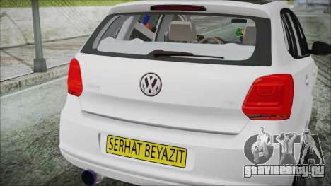 Volkswagen Polo 1.2 TSI для GTA San Andreas вид сзади