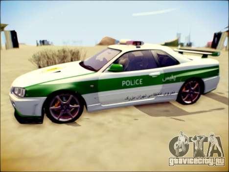 Nissan Skyline Iranian Police для GTA San Andreas вид сзади слева