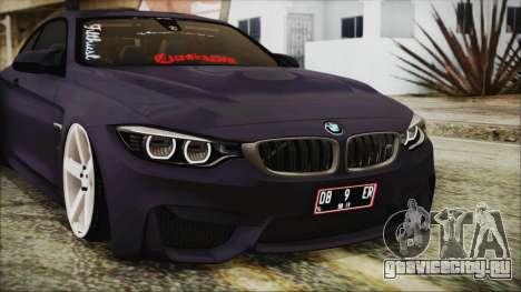 BMW M4 Stance 2014 для GTA San Andreas вид изнутри
