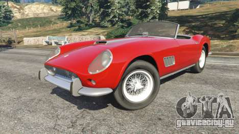 Ferrari 250 California 1957 для GTA 5 вид справа