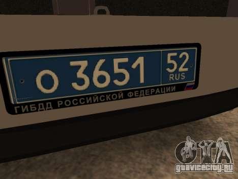 ВАЗ 2110 ДПС для GTA San Andreas вид сбоку
