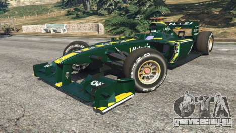 Lotus T127 для GTA 5 вид справа