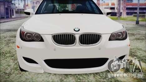 BMW M5 E60 2009 для GTA San Andreas вид изнутри