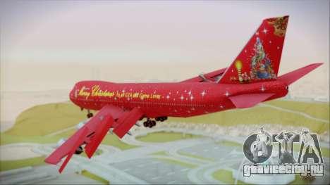Boeing 747-100 Merry Christmas для GTA San Andreas вид слева