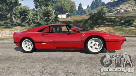 Ferrari 288 GTO 1984 для GTA 5 вид слева