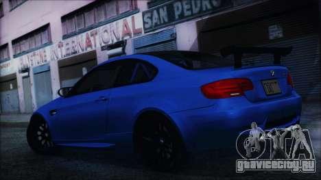 BMW M3 GTS 2011 HQLM для GTA San Andreas вид сзади слева