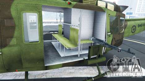 Bell UH-1D Huey Royal Canadian Air Force для GTA 5 шестой скриншот