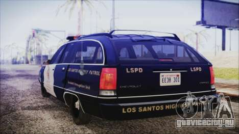 Chevrolet Caprice Station Wagon 1993-1996 LSPD для GTA San Andreas вид слева