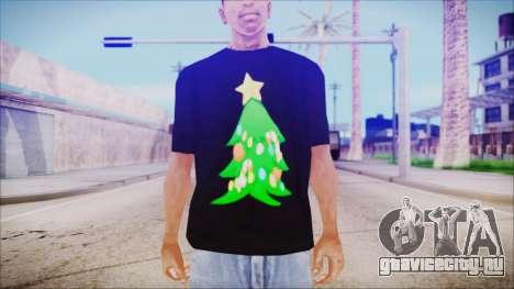 T-Shirt Christmas Tree для GTA San Andreas третий скриншот