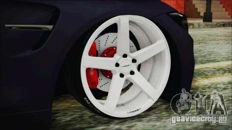 BMW M4 Stance 2014 для GTA San Andreas вид сзади слева