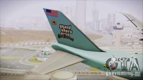 Boeing 747-100 Blue для GTA San Andreas вид сзади слева