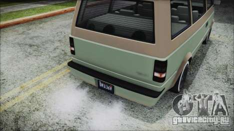 GTA 5 Declasse Moonbeam Custom IVF для GTA San Andreas вид сзади