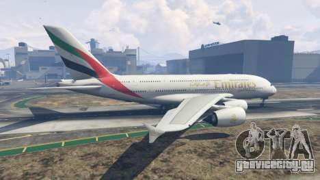 Airbus A380-800 для GTA 5 второй скриншот