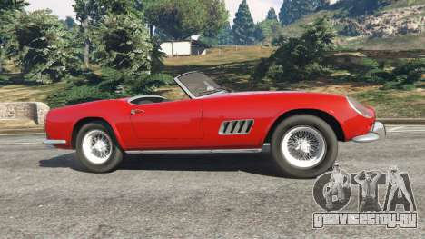 Ferrari 250 California 1957 для GTA 5 вид слева