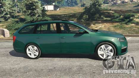 Skoda Octavia VRS 2014 [estate] для GTA 5 вид слева
