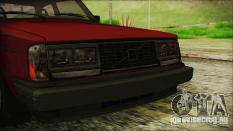 Volvo Turbo 242 Evolution Turbo 1983 для GTA San Andreas вид сбоку