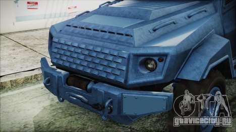 GTA 5 HVY Insurgent Van IVF для GTA San Andreas вид справа