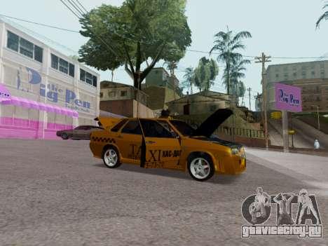 VAZ 21099 Tuning Russian Taxi для GTA San Andreas вид сзади