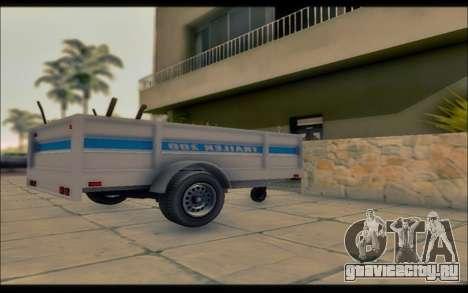 Мод из GTA V коммунальные трейлер для GTA San Andreas вид слева
