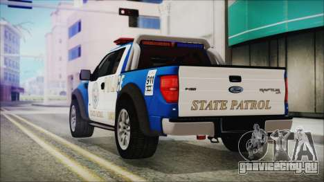 Ford F-150 SVT Raptor 2012 Police Version для GTA San Andreas вид слева
