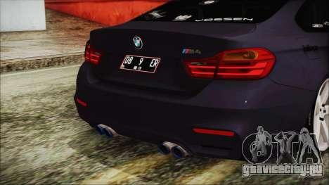BMW M4 Stance 2014 для GTA San Andreas вид сзади