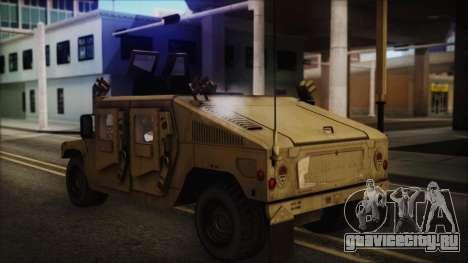 HMMWV Patriot для GTA San Andreas вид слева