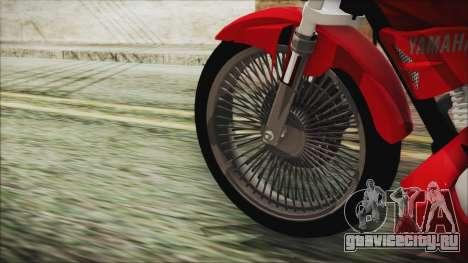 Yamaha YBR Tuning для GTA San Andreas вид сзади слева