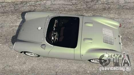 Porsche 550A Spyder 1956 для GTA 5 вид сзади