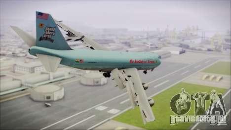 Boeing 747-100 Blue для GTA San Andreas вид слева