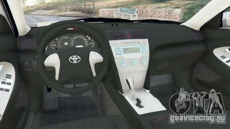 Toyota Camry 2011 для GTA 5 вид сзади справа