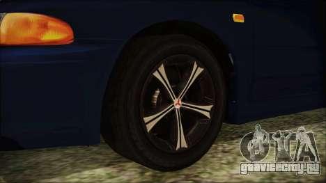 Mitsubishi Lancer 1998 для GTA San Andreas вид сзади слева