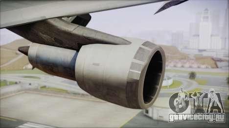Boeing 747-100 Blue для GTA San Andreas вид справа
