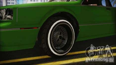 GTA 5 Albany Primo Custom No Interior IVF для GTA San Andreas вид сзади слева