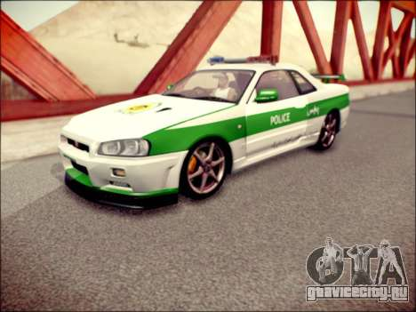 Nissan Skyline Iranian Police для GTA San Andreas