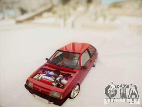 Ваз 2108 Турбо для GTA San Andreas вид сзади