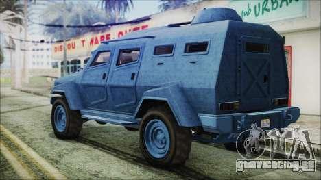 GTA 5 HVY Insurgent Van IVF для GTA San Andreas вид слева