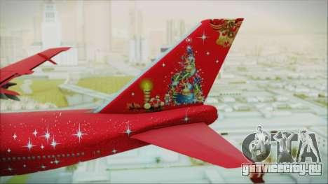 Boeing 747-100 Merry Christmas для GTA San Andreas вид сзади слева