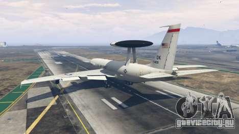 Boeing E-3 Sentry для GTA 5 третий скриншот