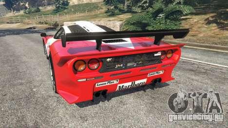 McLaren F1 GTR Longtail [Marlboro] для GTA 5