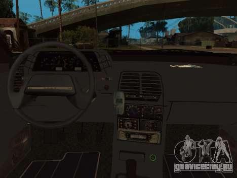 ВАЗ 2110 ДПС для GTA San Andreas вид снизу